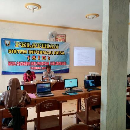 Desa Samaran Adakan Pelatihan Sistem Informasi Desa
